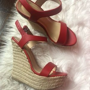 Forever 21 red wedges